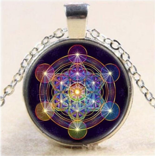 SACRED GEOMETRY: Metatron's Cube with Purple Disk