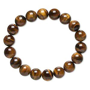 "TIGER EYE -8"" Stretch Round Large Bead Bracelet"