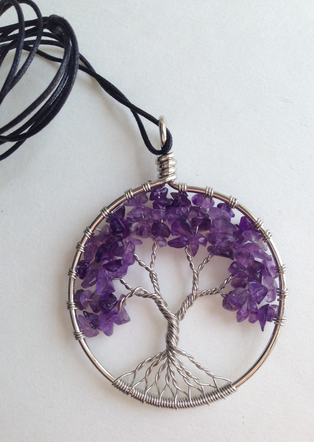 Amethyst Tree of Life with Energy Disk Pendant