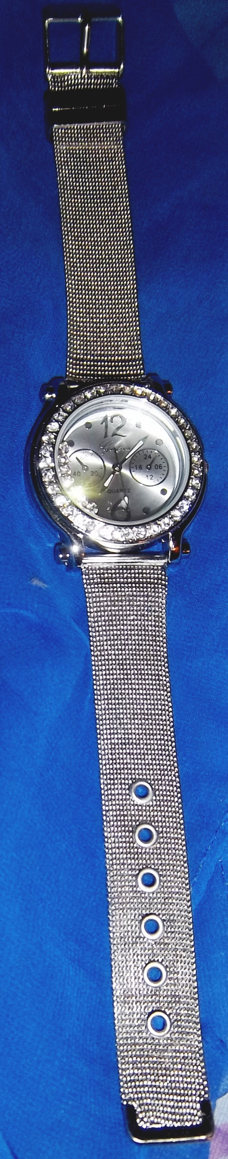 NEW LADIES ENERGY WATCH ZZE: Silver Tone Mesh